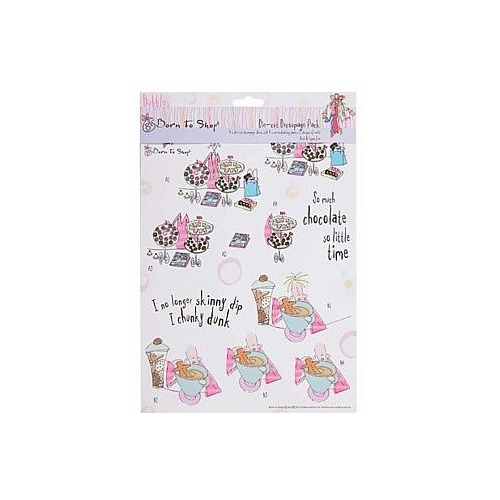 Die Cut Decoupage Pack - Bubbles Born To Shop