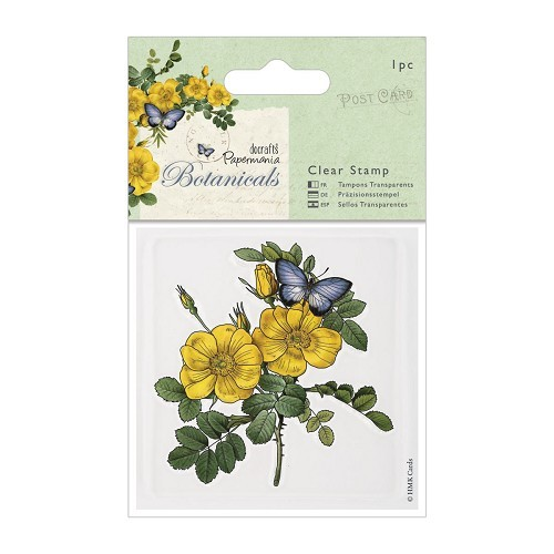 80 x 80mm Clear Stamps - Botanicals - Wild Rose