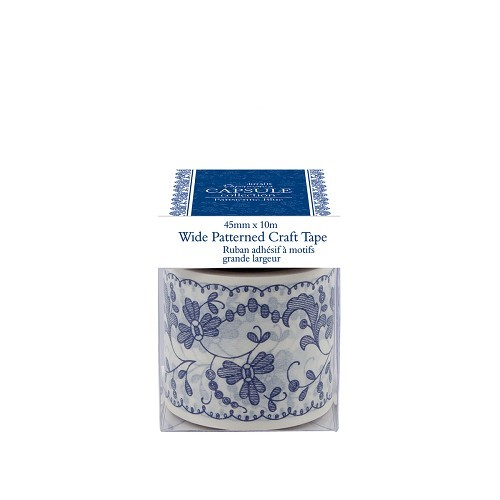 Wide Patterned Craft Tape - Capsule Collection - Parisienne Blue