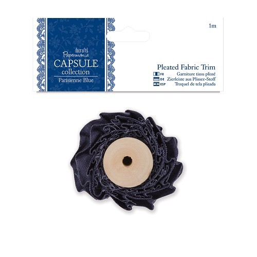 1m Pleated Fabric Trim - Capsule Collection - Parisienne Blue