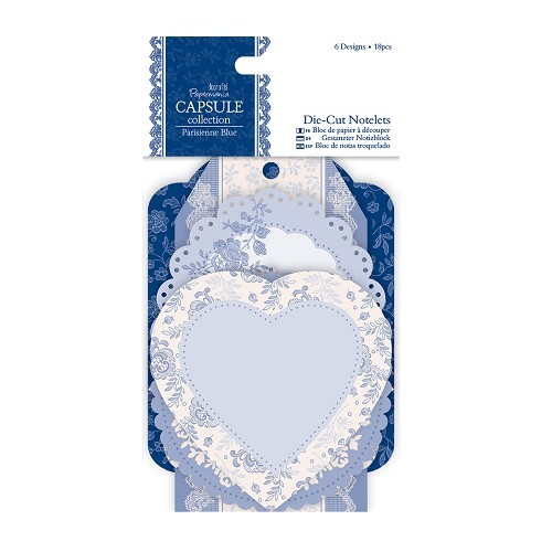 Die-cut Notelets (18pcs) - Capsule Collection - Parisienne Blue