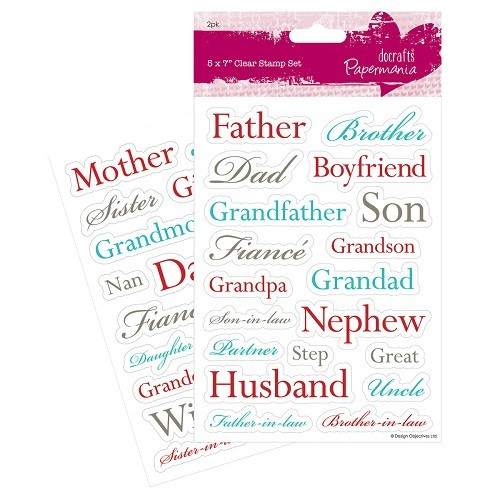 5 x 7 Clear Stamps (2pk) - Relations