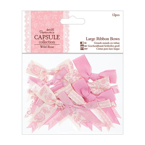 Large Ribbon Bows (12pcs) - Capsule Collection - Wild Rose