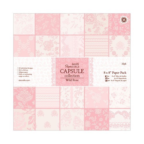 8 x 8 Paper Pack (32pk) - Capsule Collection - Wild Rose