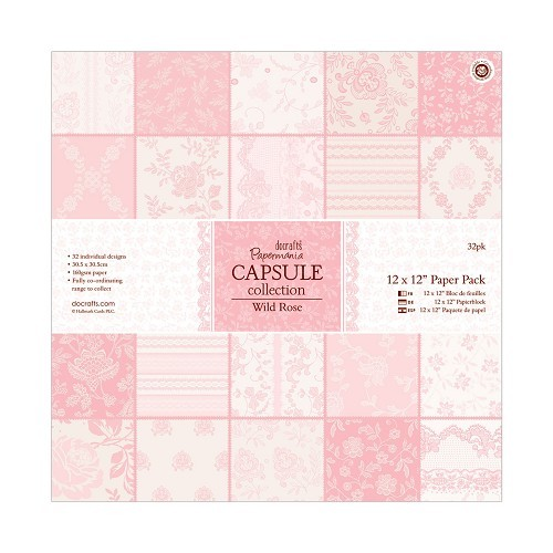 12 x 12 Paper Pack (32pk) - Capsule Collection - Wild Rose