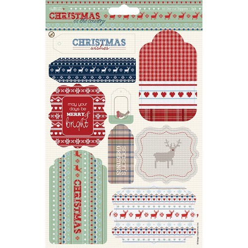 A5 Die-cut Toppers (2pk) - Christmas in the Country