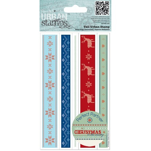 Tall Urban Stamp (5pcs) - Christmas in the Country - Fair Isle