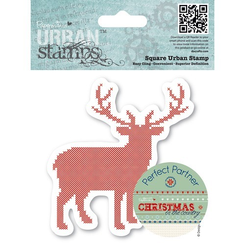 4 x 4 Urban Stamp - Christmas in the Country - Stag