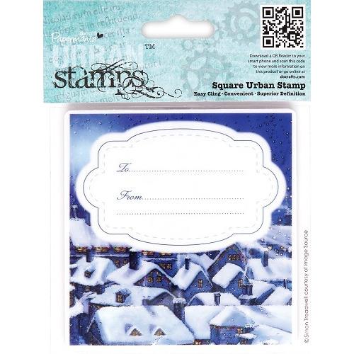 Square Urban Stamp - Christmas Tidings (Silent Night)
