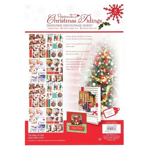 Designer Decoupage Sheet - Christmas Tidings