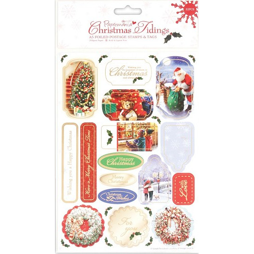 A5 Foiled Postage Stamps - Christmas Tidings (Special Delivery)