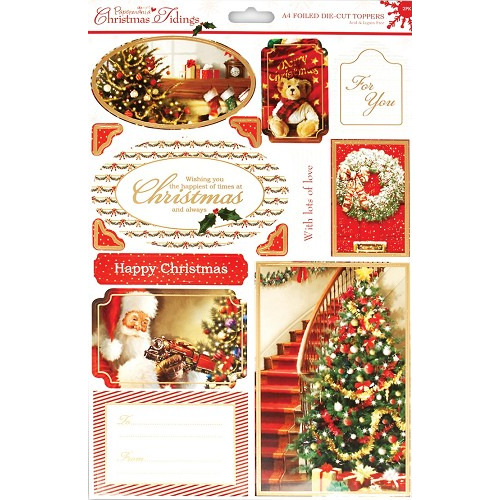 A4 Foiled Toppers  - Christmas Tidings