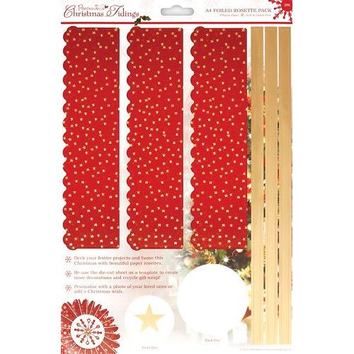 A4 Foiled Rosette Pack - Christmas Tidings (Stars)