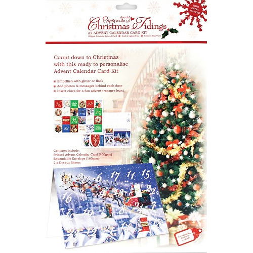 A4 Advent Calender Kit - Christmas Tidings