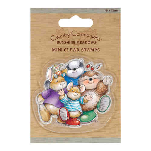 Mini Clear Stamp - Country Companions - Group