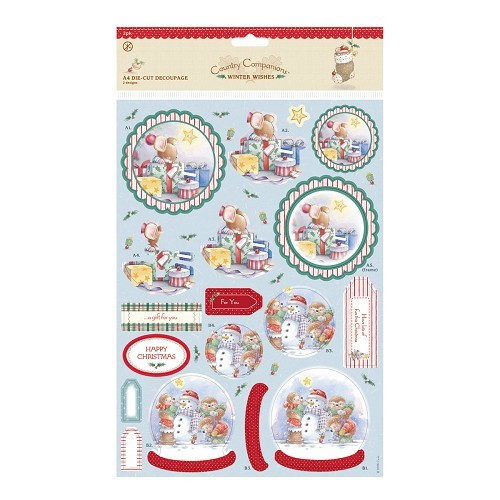 A4 Decoupage (2pk) - Winter Wishes - A Gift For You