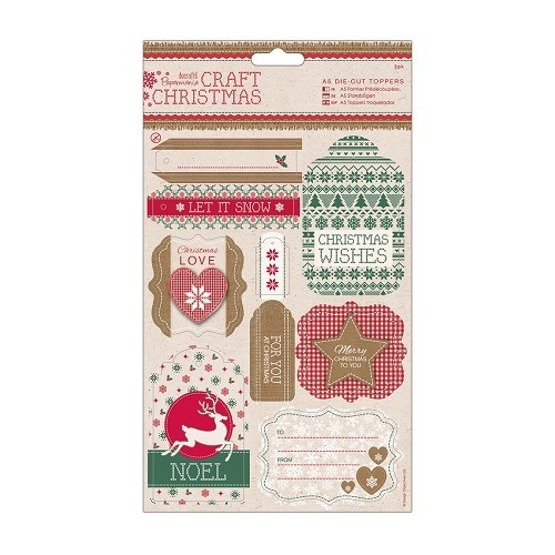 A5 Die-cut Toppers (2pk) - Craft Christmas