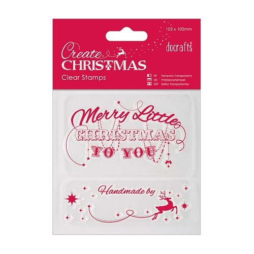 102 x 102mm Mini Clear Stamp - Merry Christmas