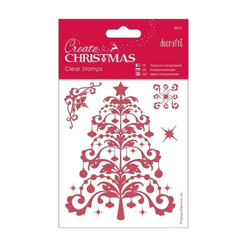 106 x 127mm Mini Clear Stamp - Christmas Tree