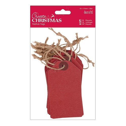 Tags (20pk) - Red