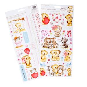 Daisy & Dandelion Lovingly Yours Glitter Cardstock Stickers
