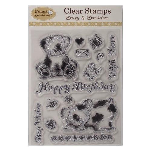 Daisy & Dandelion Clear Stamps - Daisy & Dandelion