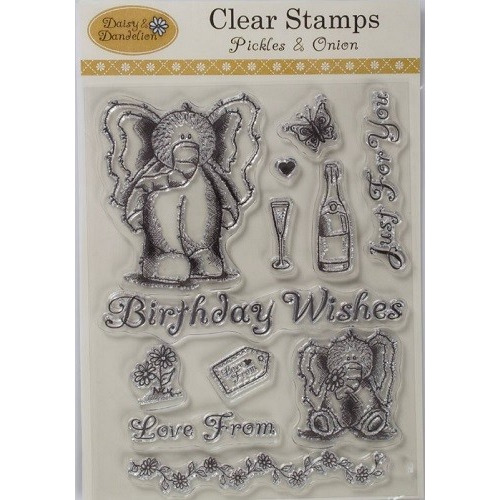 Daisy & Dandelion Clear Stamps - Pickles & Onion