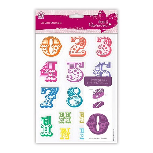 A5 Clear Stamps Set (16pcs) - Carnival Numbers