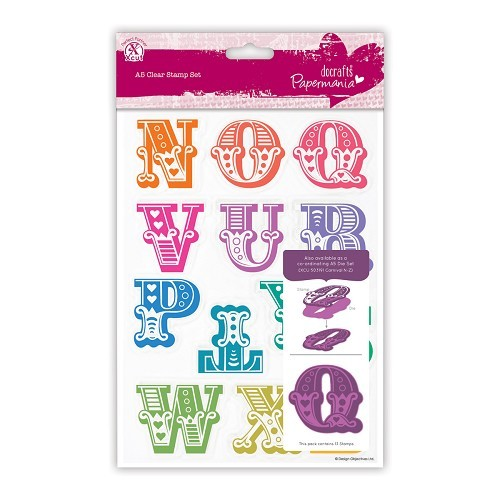 A5 Clear Stamps Set (13pcs) - Carnival Alphabet N-Z