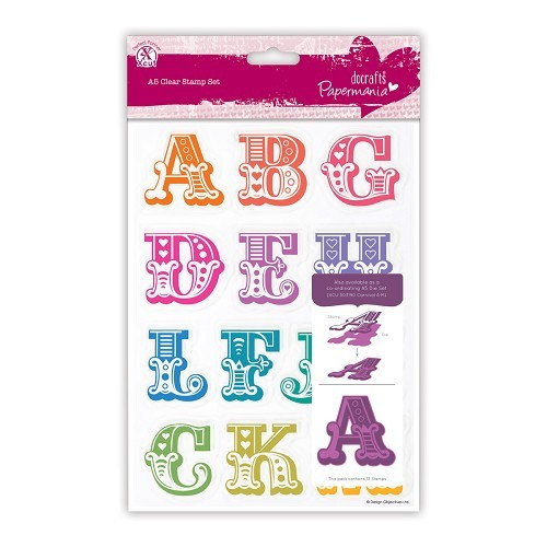 A5 Clear Stamps Set (13pcs) - Carnival Alphabet A-M