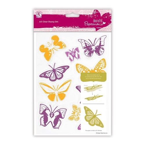 A5 Clear Stamps Set (10pcs) - Butterflies