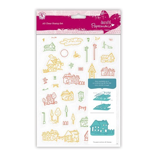 A5 Clear Stamps Set (40pcs) - Village