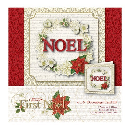 6 x 6 Decoupage Card Kit - First Noel
