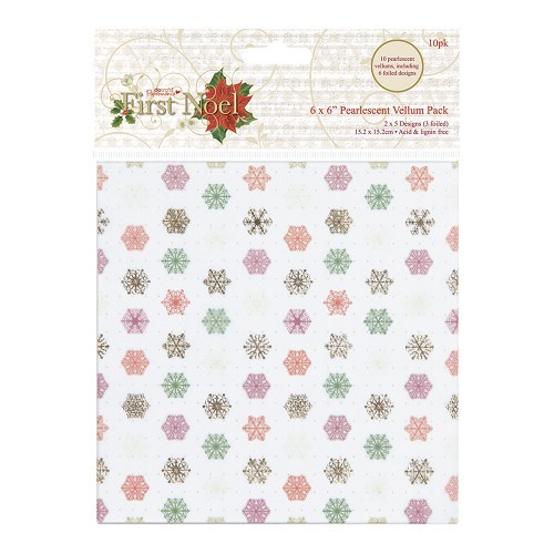 6 x 6 Pearlescent Vellum Pack (10pk) - First Noel