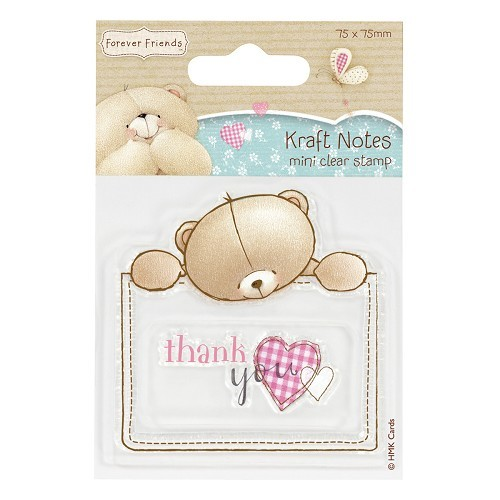 75 x 75mm Mini Clear Stamp - Kraft Notes - Thank You