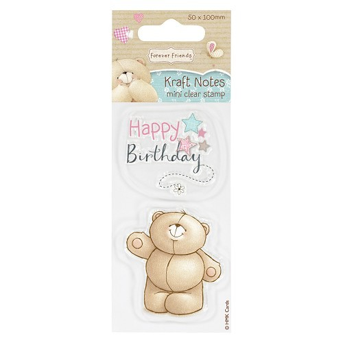 50 x 100mm Mini Clear Stamp - Kraft Notes - Happy Birthday