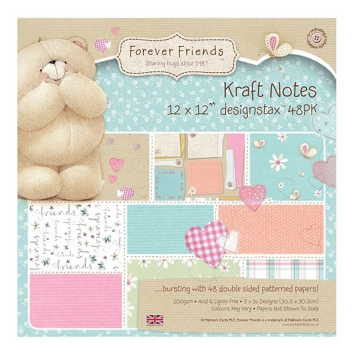 12 x 12 Designstax (48pk) - Kraft Notes