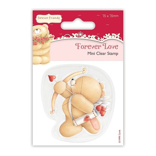 75 x 75mm Mini Clear Stamp - Forever Love - Cupid