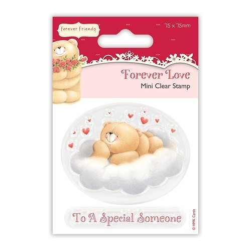 75 x 75mm Mini Clear Stamp - Forever Love - Cloud