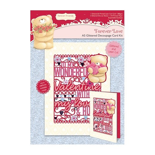 A5 Decoupage Card Kit - Forever Love - Valentine