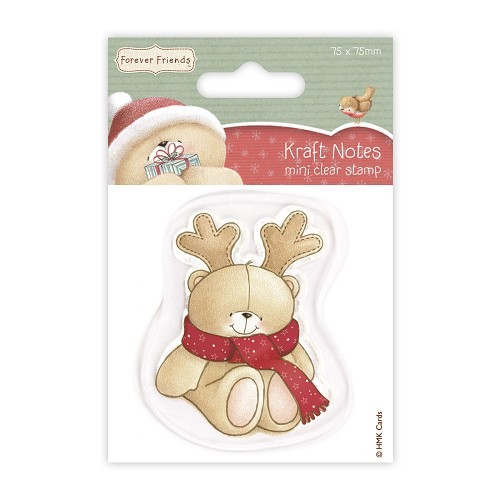 75 x 75mm Mini Clear Stamps - Christmas Kraft Notes - Antlers