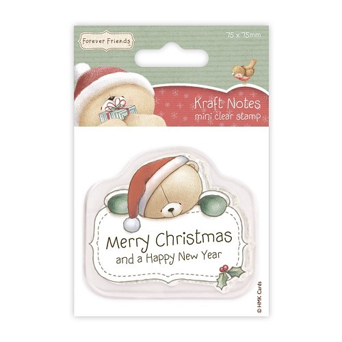 75 x 75mm Mini Clear Stamps - Christmas Kraft Notes - Merry Chri