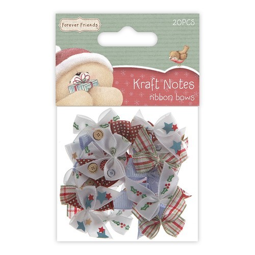 Ribbon Bows (20pcs) - Christmas Kraft Notes