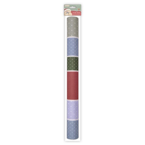 Adhesive Fabric Paper Roll - Christmas Kraft Notes - Patchwork