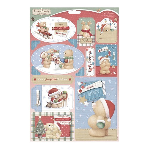 A4 Die-cut Toppers - Kraft Notes - Christmas Fun