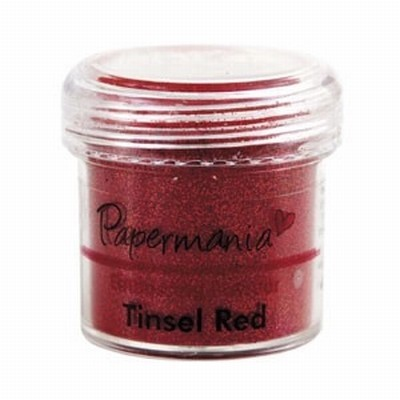 Papermania Embossing Powder - Tinsel Red
