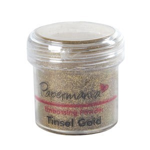 Papermania embossing powder - Tinsel Gold