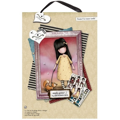 A4 Decoupage Pack - Gorjuss - The Pretend Friend