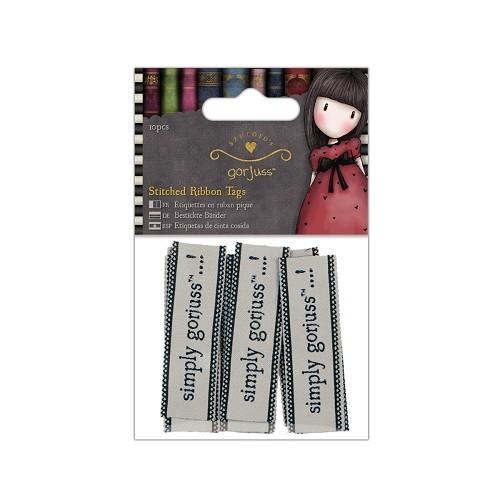 Stitched Ribbon Tags (10pcs) - Simply Gorjuss