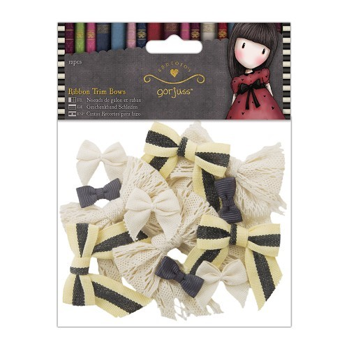 Ribbon Trim Bows (12pcs) - Simply Gorjuss